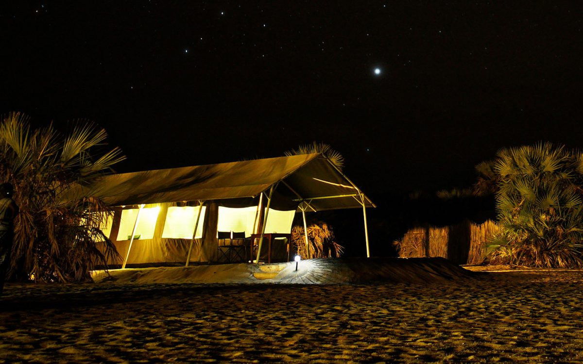 Lobolo camp at night